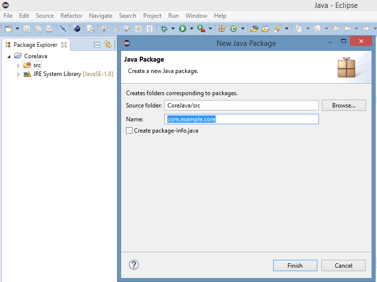 Create New Java Package In Eclipse