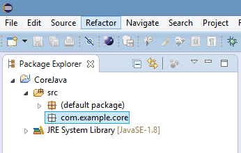 Created Java Package In Eclipse