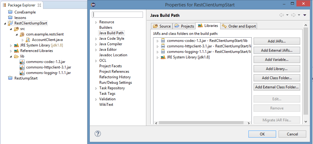 REST Client Apache Commons